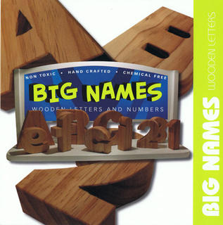 BIG NAMES - Wooden Alphabet