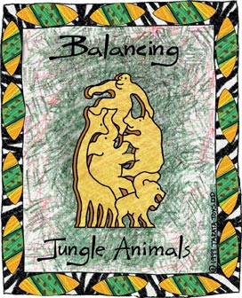 Balancing Jungle Animals -  Natural (G)