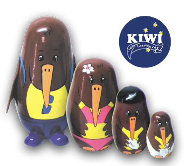 Kiwi Nesting Doll (Russian or Stacking Doll)