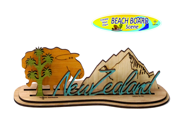 Beach Board - New Zealand Mountain